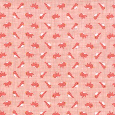 Story Book - Birdies in Peach (13117 16) // Juberry Fabrics