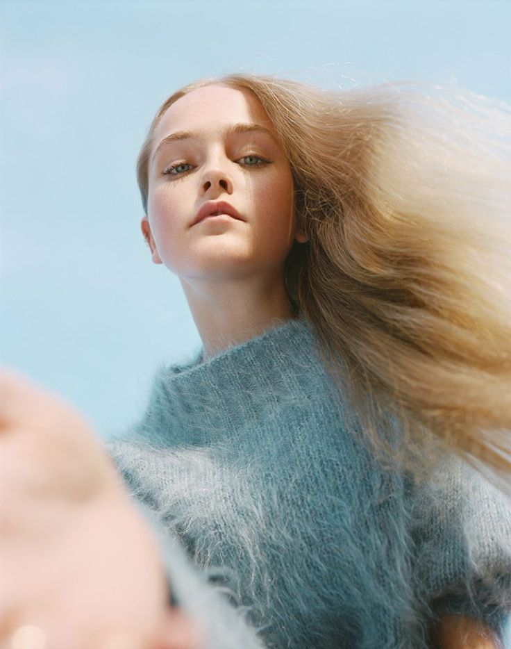 knitGrandeur: Pale Power, Pale Blue Angora Sweater