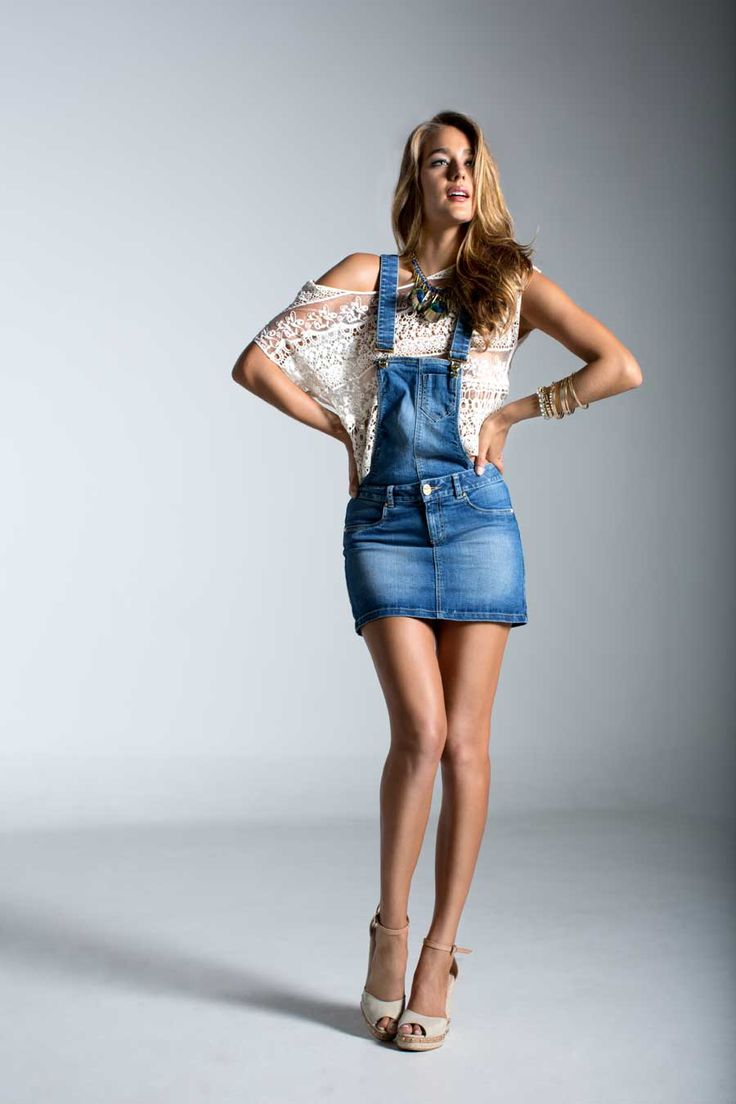 #ELAJeans nueva colección. BLUSA E206387, ENTERIZO E120628, COLLAR E213130