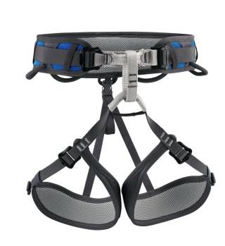 Harnesses : Petzl Corax The CORAX is the true versatile harness: easy to use and comfortable, it is designed for rock climbing, mountaineering or via ferrata. This adjustable harness is available in two colors and in two sizes to fit all body shapes. NEW PRICE 57,- USD