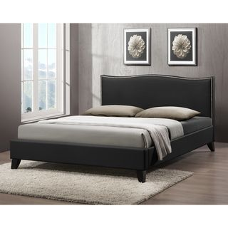 Battersby Black Modern Bed with Upholstered Headboard | Overstock.com Shopping - Great Deals on Baxton Studio Beds