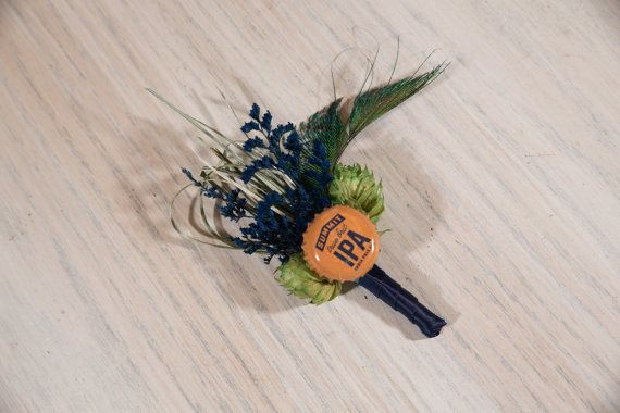 One of Kind READY TO SHIP Hops Boutonniere by WitAndWonderDesigns