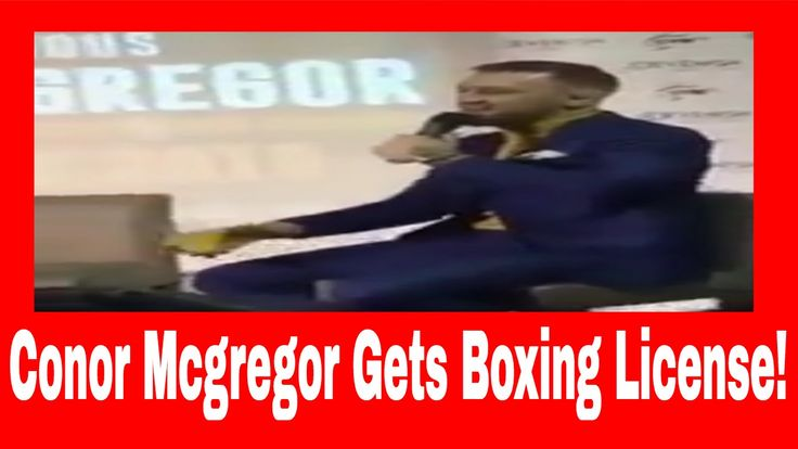 Conor Mcgregor Gets Boxing License, Still Two Weight Champion STRIPPED O...