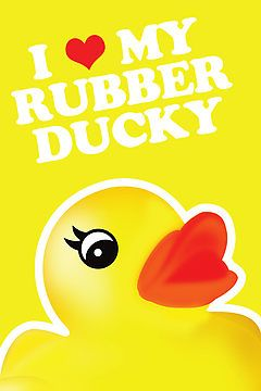 I Love My Rubber Ducky [iPhone / iPod Case, Print & Tshirt] by Damienne Bingham