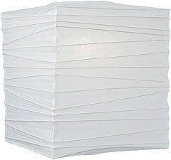 White 12 Inch Square Premium Paper Lantern by Luna Bazaar. $8.95. 12 inches x 12 inches x 12 inches. Finest Quality. Bamboo Ribbing. For use with ceiling fixtures, our electric cord sets and our LED lights. (Please note that the No Frills colors do not exactly match the Premium Lantern colors and the Fine Line Lantern colors. If you need matching colors please shop within one line.)