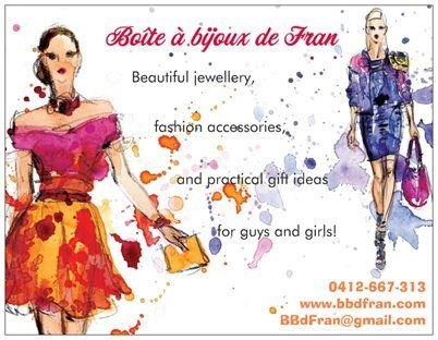 Valentines Day is just around the corner.  Why not give someone a hint prior to the big event. So many gorgeous pieces of jewellery and fashion accessories to choose from - nothing over $20!  Perhaps you, or they could gift a voucher and let the happy recipient choose for themselves :)  www.bbdfran.com