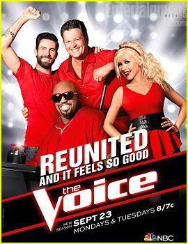 Adam Levine & Christina Aguilera: 'The Voice' Season 5 Poster!