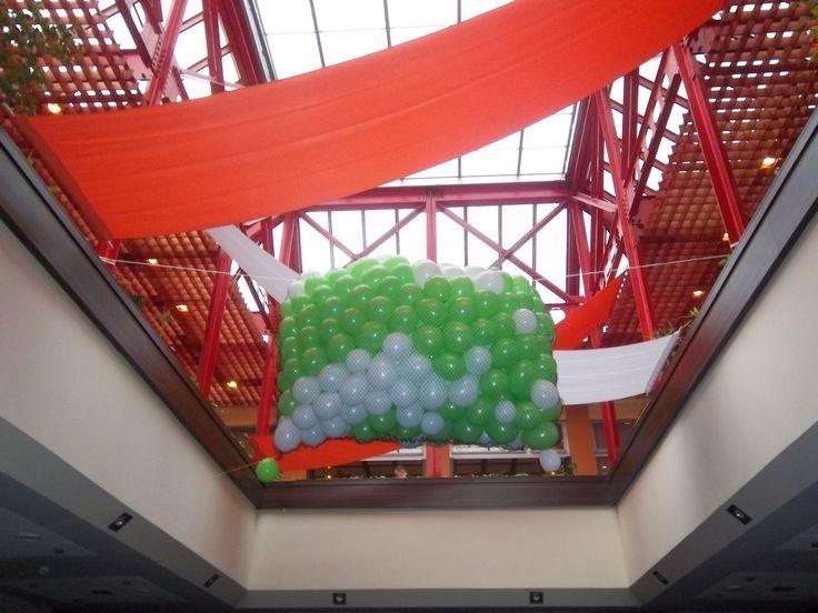 Balóny v sieti - balónový dážď