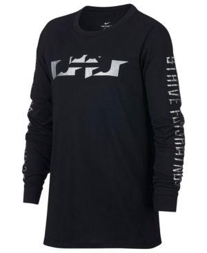 Nike Dri-fit LeBron James T-Shirt, Big Boys (8-20) - Black XL