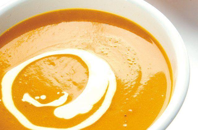Butternut pumpkin soup recipe.