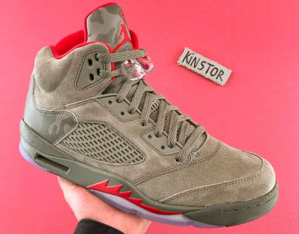 'Camo' Air Jordan 5s Are Releasing for Kids Too
