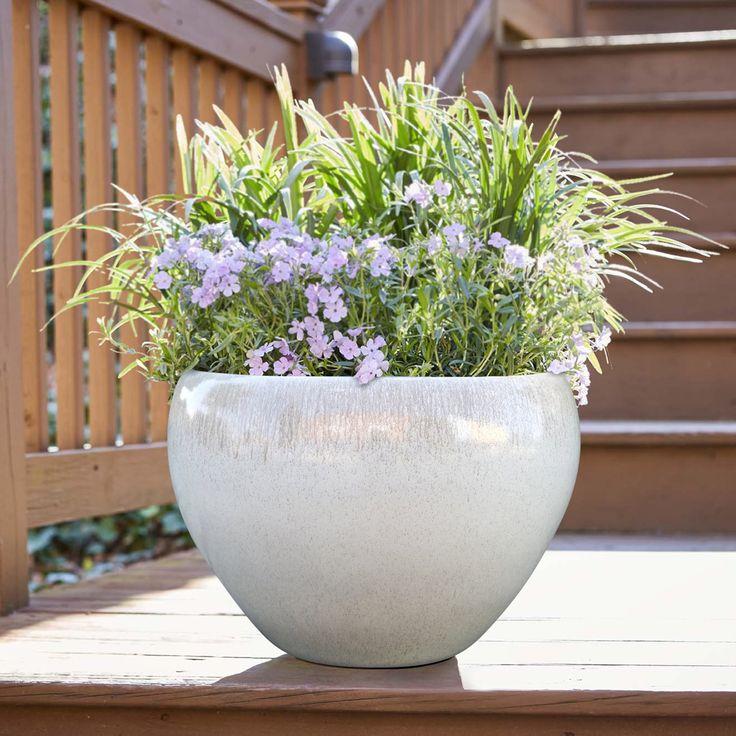 Better homes gardens mirren 17 inch round planter white
