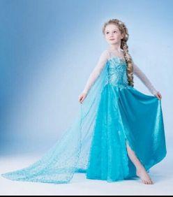 Vestido de Frozen. Modelo: Elsa.  Delivery a todo Lima y el Perú Disponible en tallas para niñas desde los 3-8 años.  Whatspp: 962340059
