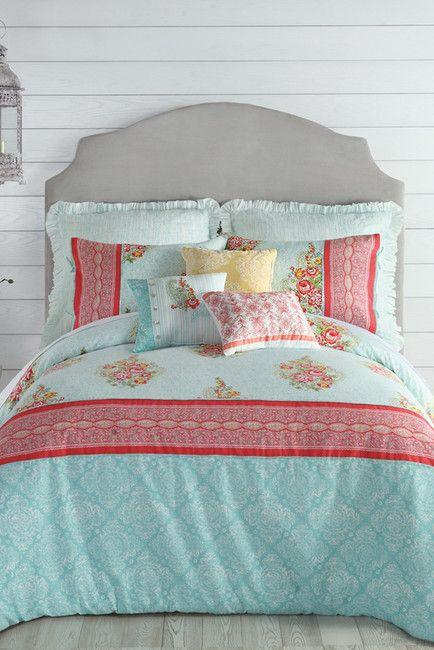 Image of Jessica Simpson Ellie King Comforter 3-Piece Set - Blue/Green