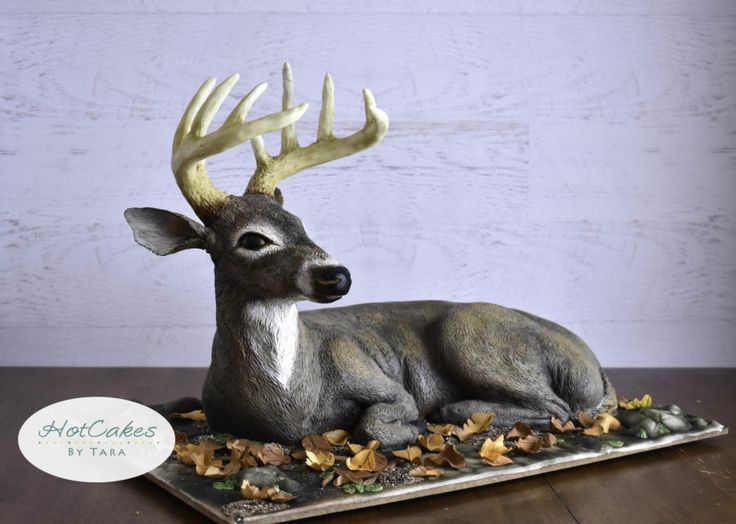 Sculpted Deer Cake  - Cake by HotCakes by Tara