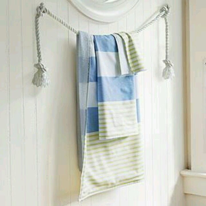 Nice Alternative For A Towel Rack In A Nautical Themed Bathroom The 57 Best Images