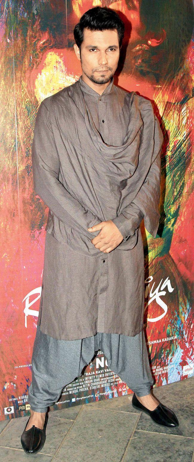 Randeep Hooda at a launch of Rangrasiya