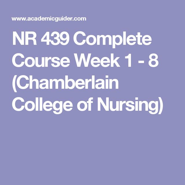 NR 439 Complete Course Week 1 - 8 (Chamberlain College of Nursing)