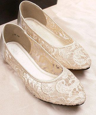 Vintage style lace Wedding shoes Bridal shoes by Phoenixinfire  Lovely lace shoes for dancing the night away after the ceremony.