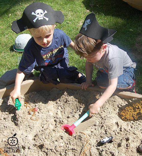 Sand Box Buried Treasure Pirate Dig For Kids