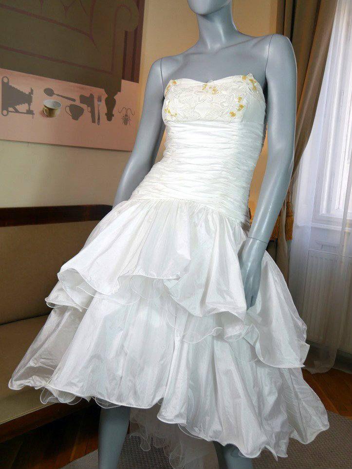 French Vintage White Evening Dress, Formal Dress, Vintage Prom Dress, Potential Wedding Dress: Size 4 US, Size 8 UK http://etsy.me/2k8ZDH7 #weddings #clothing #weddinggown #white #frenchvintage #europeanvintage #bridalgown #b