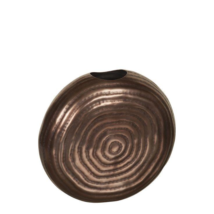 colin vase forme escargot en aluminium couleur cuivre. Black Bedroom Furniture Sets. Home Design Ideas