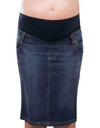 Attesa Denim Skirt  #maternity #fashion #pregnancy #style #minefornine