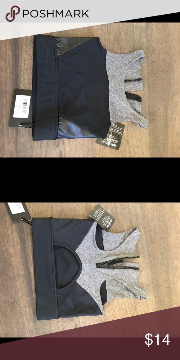 Black and grey sports bra top Grey and black sports bras top. Not actually lulu lemons just marked for views lulu lemons Intimates & Sleepwear Bras