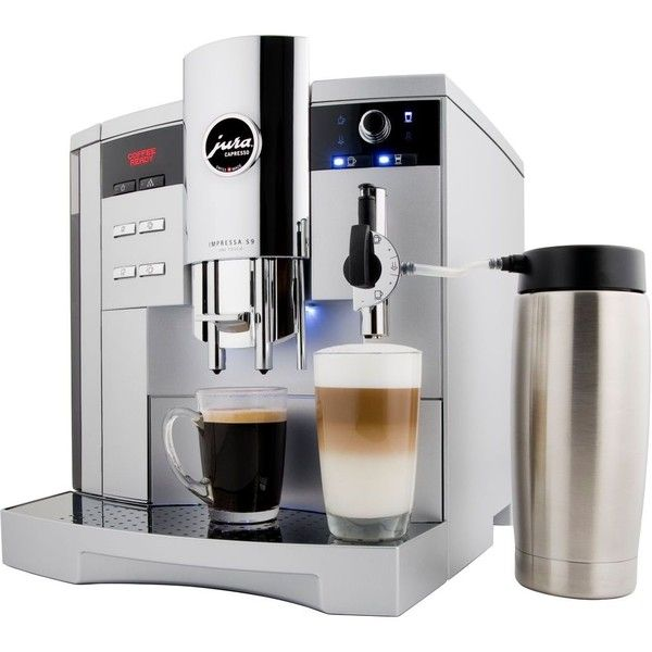 Jura S9 One Touch ($2,400) ❤ liked on Polyvore featuring home, kitchen & dining, small appliances, homesalekitchen, kitchen related, silver, jura coffee maker, jura coffee machine, coffee cappuccino maker and cappuccino coffee machine