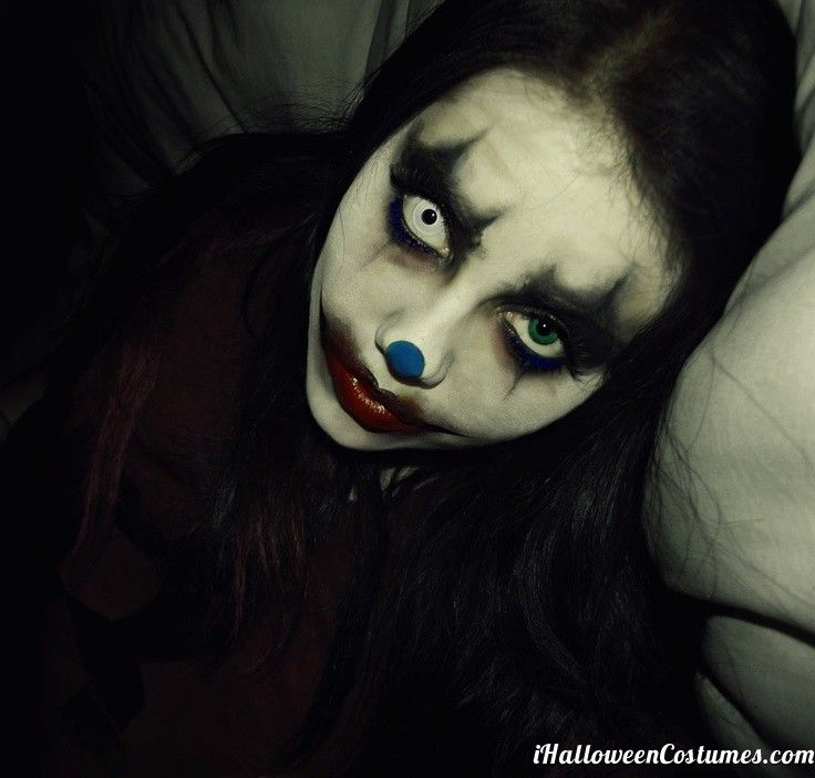 scary clown makeup for Halloween - Halloween Costumes 2013 ...