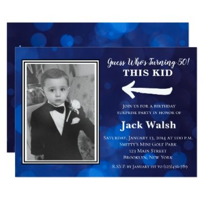 Old Photo Surprise Birthday Party Invitations - birthday gifts party celebration custom gift ideas diy