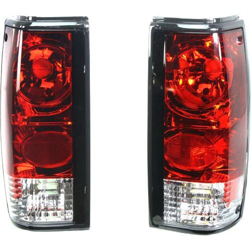 1982-1993 Toyota S10 Pickup Tail Lamp,Clear & Red Lens,Sealed Beam,One Set
