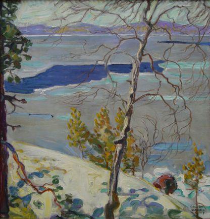 Jaiden lahto, Oil by Akseli Gallen Kallela (1865-1931, Finland)