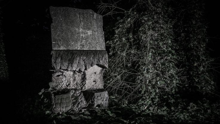 Jeden z několika posledních posledních náhrobků na Bohnickém hřbitově bláznů.  One of last existing gravestones on the Medmen's hospital cemetery in Bohnice.