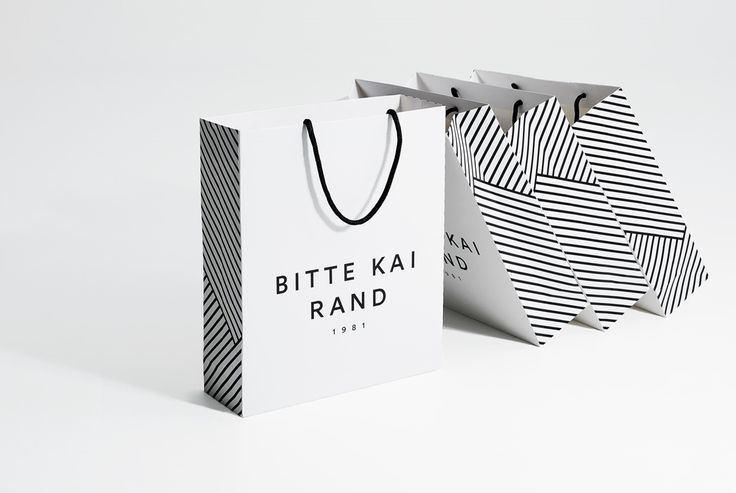 Shopping bag for Bitte Kai Rand. Visual identity, artwork and packaging by Homework.