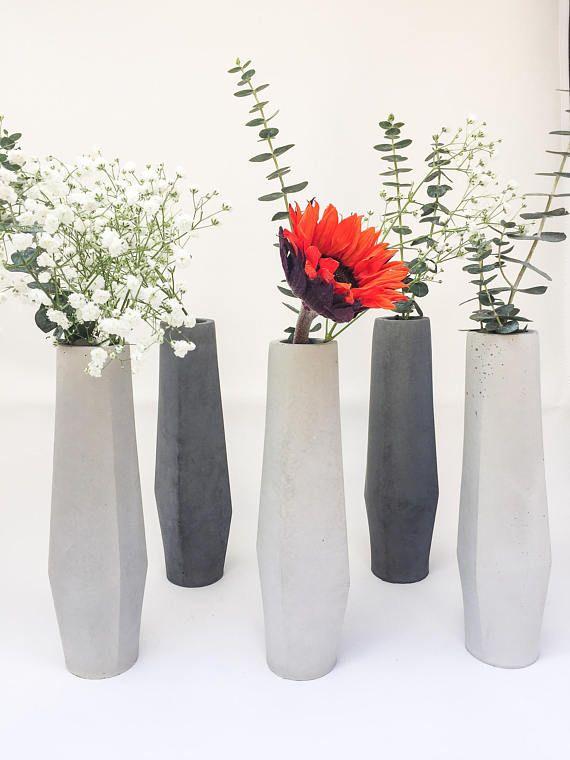 Flower Vase Mid Century Modern Gift For Mom Vase For Centerpiece