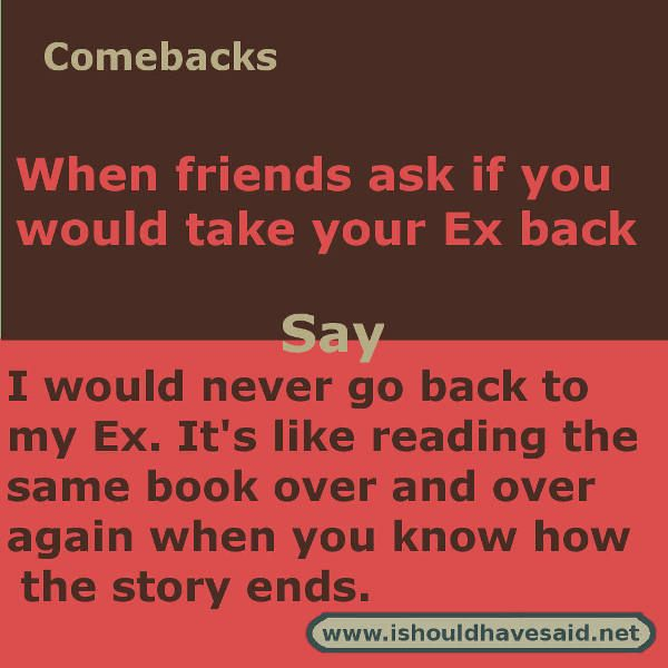 Roasts to say to your ex
