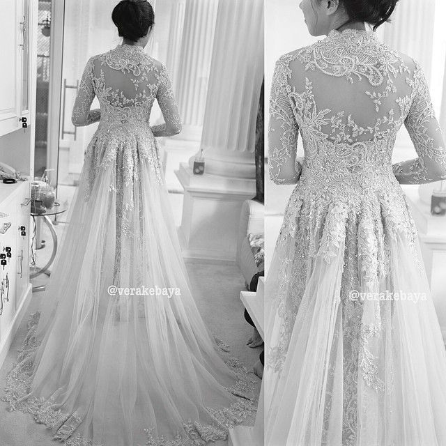 #weddingdress #backdetails #kebaya #pengantin #lace #fashionwedding #bride #verakebaya ⚫️⚪️⚫️⚪️