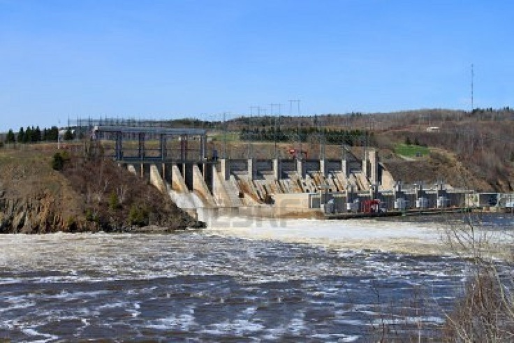 Mactaquac dam outside Fredericton, NB