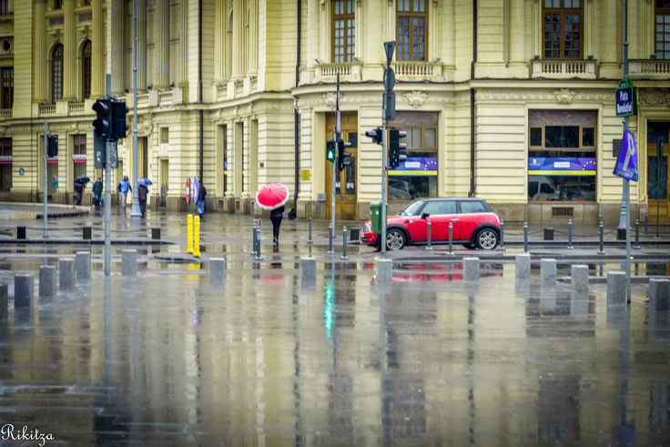 Rainy day in Bucharest - Romania In the supersaturated by Romanian history Revolution Square a rainy atmosphere fills the space ... I do hope to have been able to catch and render that ...