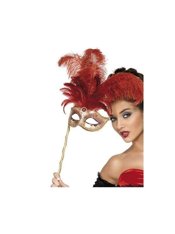 Halloween Baroque Fantasy Mask - Red