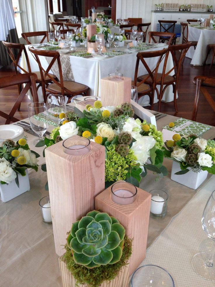 45 best wedding reception ideas images on pinterest for Modern table centerpieces