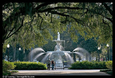 Savannah, Georgia is absolutely charming--took a horse and buggy tour and toured the cemeteries--ghost tours are popular.  Great food.