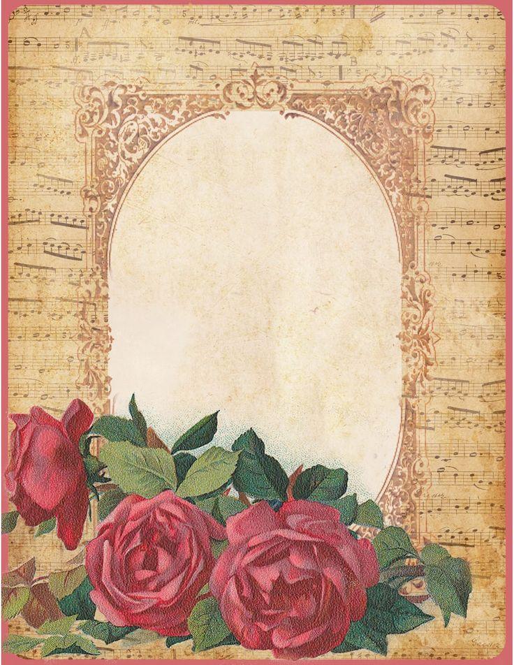 Днем, фоны старые открытки