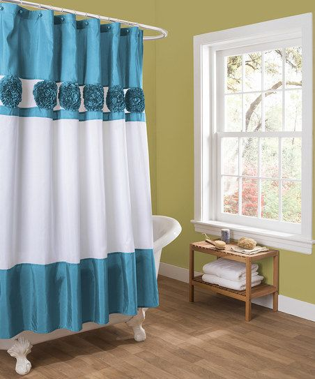 Turquoise Seascape Shower Curtain