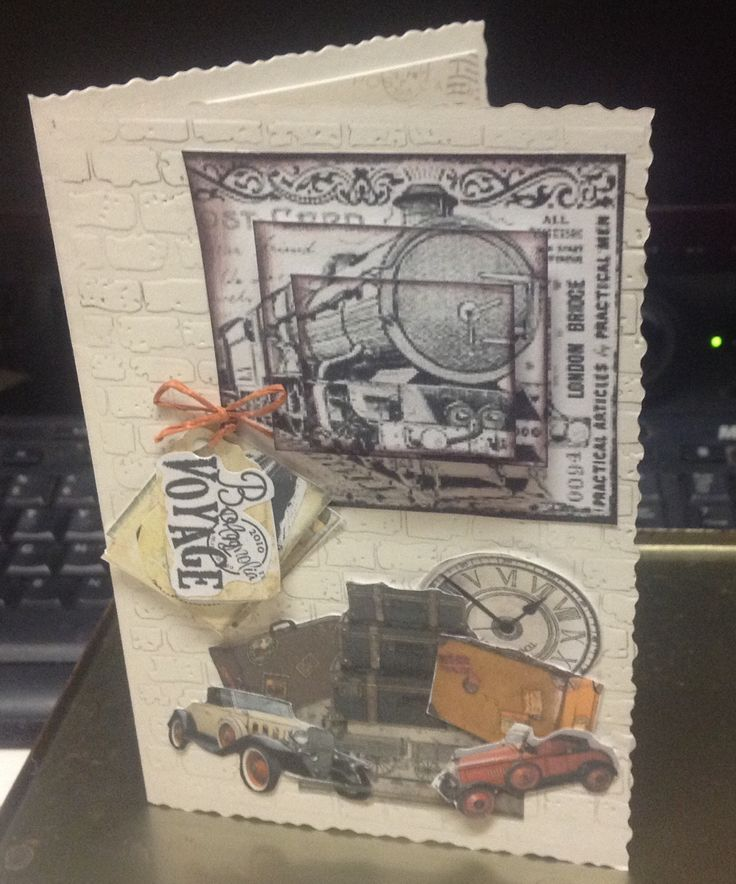 A bon Voyage card, because I just had to do something with that train