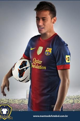 Neymar in a Barcelona shirt. Might use this as the main picture on my cover.
