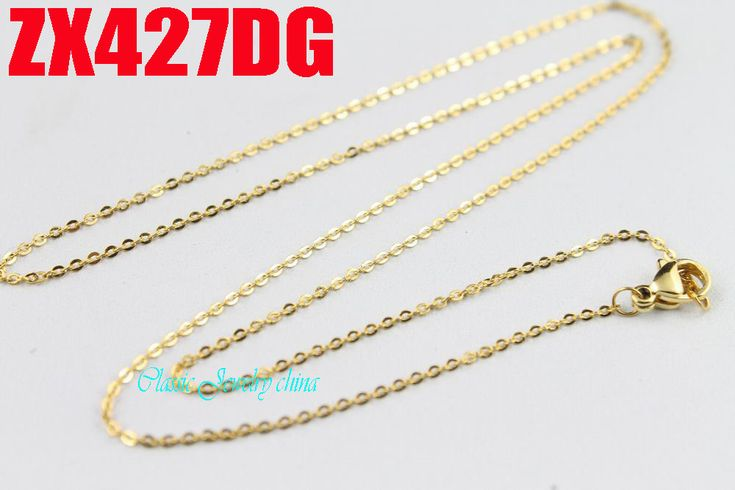 golden color 1.2mm cross chain thin chain stainless steel necklace fashion women jewelry, small necklace 20pcs ZX427DG