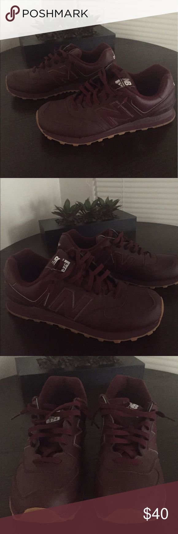 Mens New Balance 574 Burgundy Color, New Balance 574, Excellent Condition, Only worn a few times, Pet free smoke free home, I ship same day New Balance Shoes