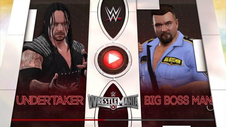 WWE 2K17 wrestlemania 15 THE UNDERTAKER VS BIG BOSS MAN